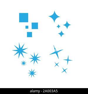 Shine Sparkles Stars icon logo design elements Vector illustration - Stock Photo
