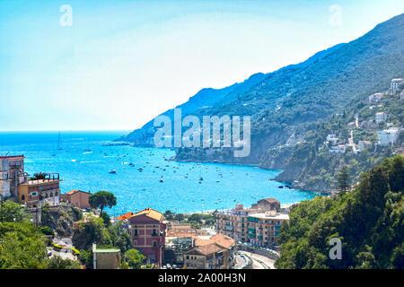 Landscape of Amalfi coast from Vietri sul mare, Italy, - Stock Photo
