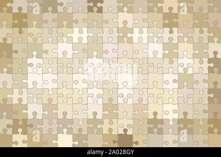 Beige grunge puzzle background - illustration Beige abstract vector