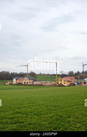 Wohnhausbau in Bayern, Germany - Stock Photo