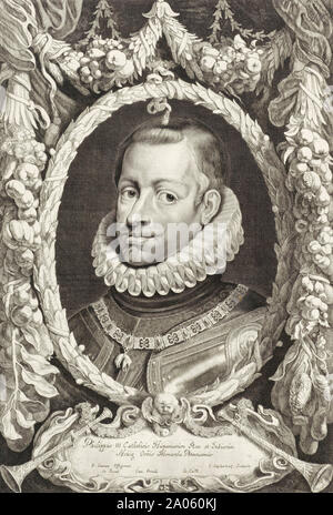Philip III of Spain, 1578 – 1621.  King of Spain and Portugal. - Stock Photo