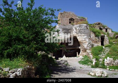 Hasankeyf is an ancient town in the southeastern Turkey.Will be under the water of the Dam of Ilisu. - Stock Photo