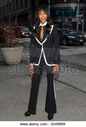New York, NY - Naomi Campbell of the Oxygen show, 'The Face' rings the NASDAQ Closing bell in New York City. AKM-GSI February 12, 2013 - Stock Photo