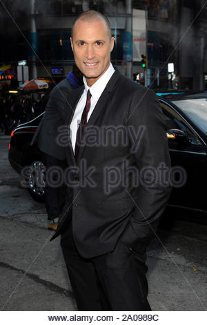 New York, NY - Nigel Barker of the Oxygen show, 'The Face' rings the NASDAQ Closing bell in New York City. AKM-GSI February 12, 2013 - Stock Photo