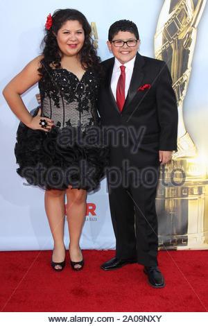 Pasadena, CA - Raini Rodriguez and Rico Rodriguez on the red carpet for the 2012 NCLR ALMA Awards at Pasadena Civic Auditorium. AKM-GSI September 16, 2012 - Stock Photo