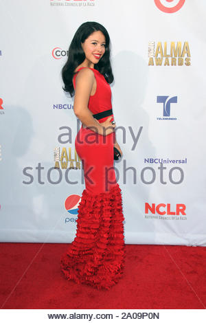 Pasadena, CA - Cierra Ramirez on the red carpet for the 2012 NCLR ALMA Awards at Pasadena Civic Auditorium. AKM-GSI September 16, 2012 - Stock Photo