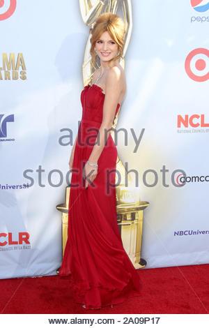Pasadena, CA - Bella Thorne on the red carpet for the 2012 NCLR ALMA Awards at Pasadena Civic Auditorium. AKM-GSI September 16, 2012 - Stock Photo