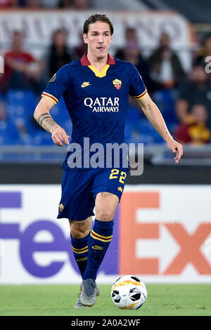 Rome, Italy. 19th Sep, 2019. Nicolo' Zaniolo of AS Roma during the UEFA Europa League match between AS Roma and Basaksehir at Stadio Olimpico, Rome, Italy on 19 September 2019. Photo by Giuseppe Maffia. Credit: UK Sports Pics Ltd/Alamy Live News - Stock Photo