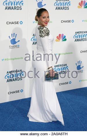 Pasadena, CA - Adrienne Bailon arrives at the 2012 American Giving Awards, presented by Chase, held at the Pasadena Civic Auditorium. AKM-GSI December 7, 2012 - Stock Photo