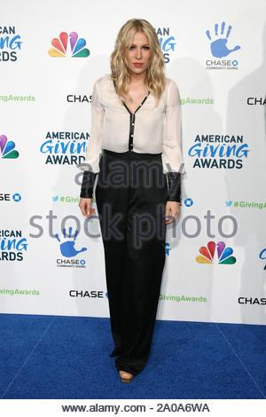 Pasadena, CA - Natasha Bedingfield arrives at the 2012 American Giving Awards, presented by Chase, held at the Pasadena Civic Auditorium. AKM-GSI December 7, 2012 - Stock Photo