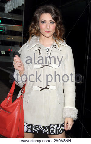 New York, NY - Karmin's Amy Heidemann arrives at 'Good Morning America' in New York. AKM-GSI December 18, 2012 - Stock Photo