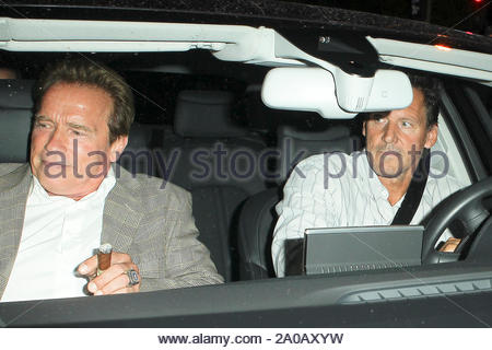 West Hollywood, CA - Actor Arnold Schwarzenegger leaving Bistrot Bagatelle in West Hollywood. AKM-GSI July 13, 2012 - Stock Photo
