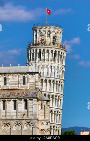 Pisa Cathedral and the Leaning Tower of Pisa bell tower, Piazza dei Miracoli, Pisa, Italy
