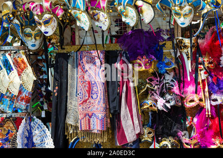 VENICE, ITALY - MAR 19 - Venetian masks in a shop on Mars 19, 2015 in Venice, Italy. - Stock Photo