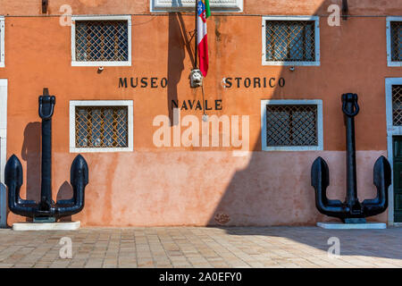 VENICE, ITALY - MAR 19 - Venice Naval  History museum  ( italian : Museo Storico Navale di Venezia) , on Mars 19, 2015 in Venice, Italy. - Stock Photo