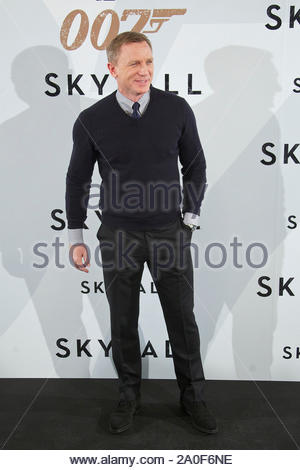 Madrid, Spain - Actor Daniel Craig attends the 'Skyfall' photocall in Madrid, Spain. AKM-GSI October 29, 2012 - Stock Photo