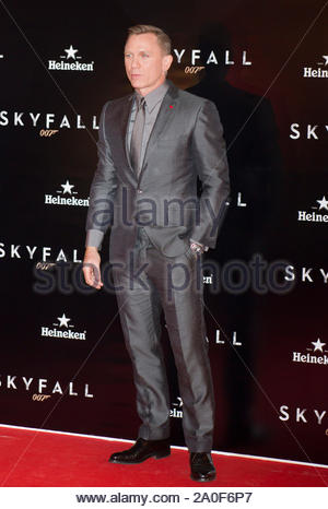 Madrid, Spain - Actor Daniel Craig attends the 'Skyfall' premiere held at the Espanol Theater in Madrid, Spain. AKM-GSI October 29, 2012 - Stock Photo