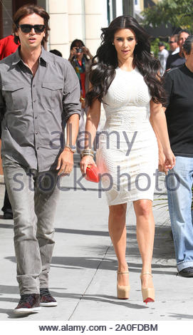 Beverly Hills, CA - Kim Kardashian leaving Nate 'n Al restaurant in Beverly Hills, CA. AKM-GSI May 18, 2011 - Stock Photo