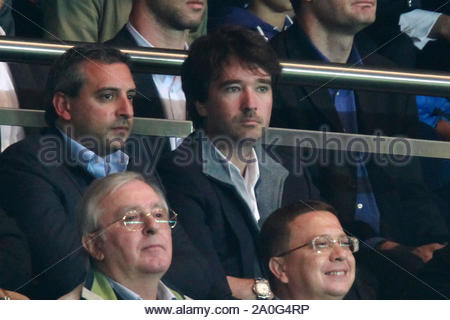 Paris, France - Arnie Arnault watching the Paris Saint-Germain vs. Dynamo Kiev soccer match in Paris, France. AKM-GSI September 18, 2012 - Stock Photo