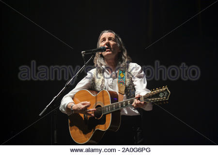 Paris, France - British musician and songwriter, best known as the former co-frontman, and founding member, of progressive rock band Supertramp, Roger Hodgson, performs at the Olympia in Paris. AKM-GSI October 5, 2012 - Stock Photo