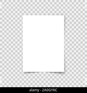 Blank A4 Sheet On Transparent Background White Paper With