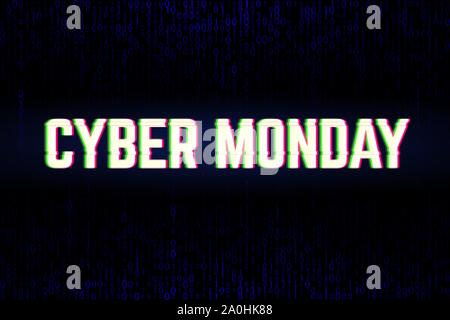 Binary background for the Cyber Monday Sale annual clearance - Stock Photo