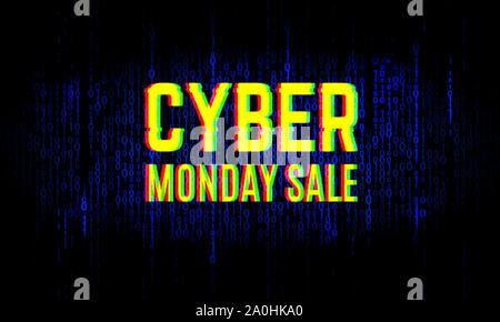 Cyber monday sale background. Announcing of a web clearance banner - Stock Photo