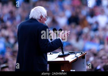 Senator Bernie Sanders campaigns at the University of North Carolina in Chapel Hill campus.