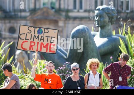 Global Climate Strike protest, Birmingham UK - Stock Photo