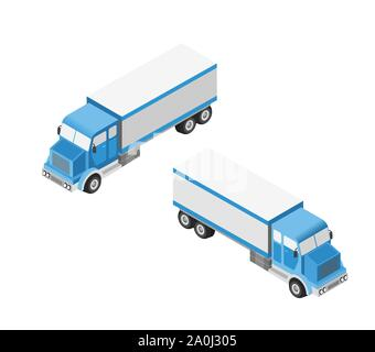 Set of cars and trucks - Stock Photo
