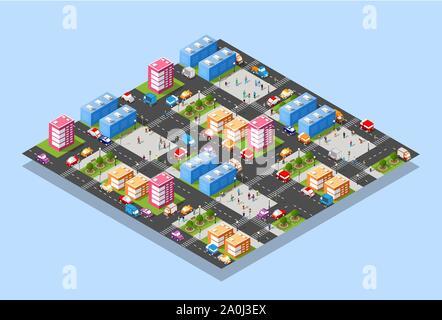 Megapolis city quarter - Stock Photo
