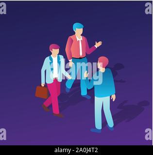 Isometric people business - Stock Photo