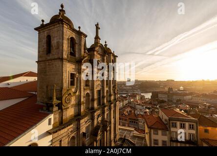 Grilos Church, Igreja dos Grilos at Porto, Portugal - Stock Photo