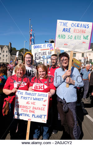 Edinburgh, Scotland, UK. 20th September 2019.  A youth led Global Climate Strike Rally outside the Scottish parliament involving Edinburgh Students, demanding greater action on climate breakdown. Credit: Craig Brown/Alamy Live News - Stock Photo