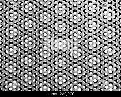 Abstract Patterns on Metal Grate - Stock Photo