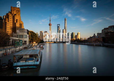 The skyscrapers of Pudong in Shanghai, China.