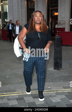 Chizzy Akudolu at the red carpet for Heartbeat of Home press night, at Piccadilly Theatre. London - Stock Photo