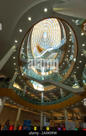 Atrium saircase in Liverpool Central Library in City Centre, England - Stock Photo