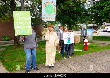 ClimateStrike Rally Held in Downtown Maple Ridge, B. C., Canada.  Sept. 20, 2019 - Stock Photo