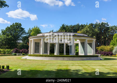 The Brookwood 1939-1945 Memorial in the Military Cemeteries at Brookwood Cemetery, Pirbright, Woking, Surrey, southeast England, UK - Stock Photo