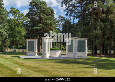 The Brookwood 1914-1918 Memorial in the Military Cemeteries at Brookwood Cemetery, Pirbright, Woking, Surrey, southeast England, UK - Stock Photo