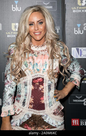 London, UK. 20th Sep, 2019. Danielle Mason attends the Ultimate Boxxer 5 at Indigo at The O2 in London. Credit: SOPA Images Limited/Alamy Live News - Stock Photo