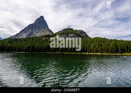 Swiftcurrent Lake, Glacier National Park - Stock Photo