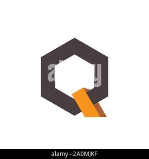 creative Q Letter logo design vector graphic concept - Stock Photo