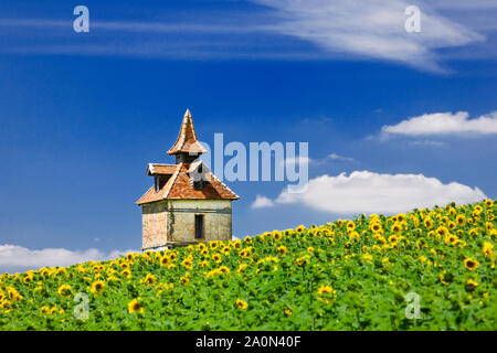 Pigeon loft or pigeonniere in the South of France - Stock Photo
