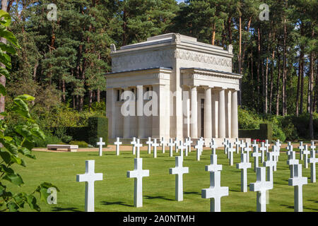 Memorial Chapel in the American Section of the Military Cemeteries at Brookwood Cemetery, Pirbright, Woking, Surrey, southeast England, UK - Stock Photo
