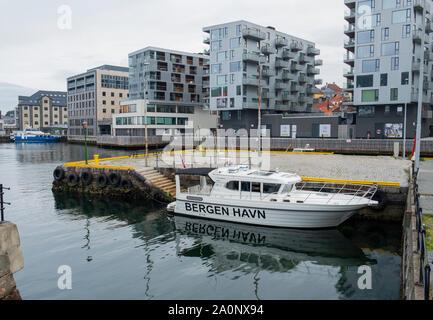 Harbour master boat in Bergen, Norway
