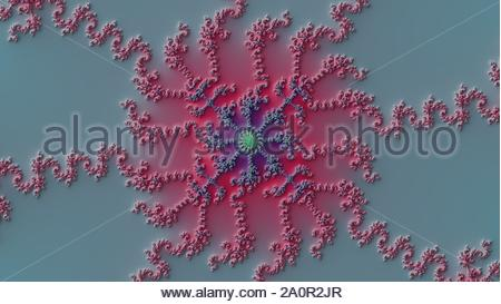 A mandelbrot fractal with a slope effect - Stock Photo