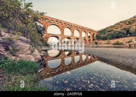 Pont du Gard in France, an UNESCO world heritage site