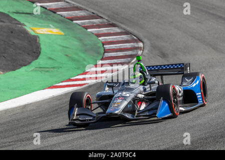 Salinas, California, USA. 20th Sep, 2019. CONOR DALY (25) of The United States practices for the Firestone Grand Prix of Monterey at Weathertech Raceway Laguna Seca in Salinas, California. (Credit Image: © Walter G Arce Sr Grindstone Medi/ASP) - Stock Photo